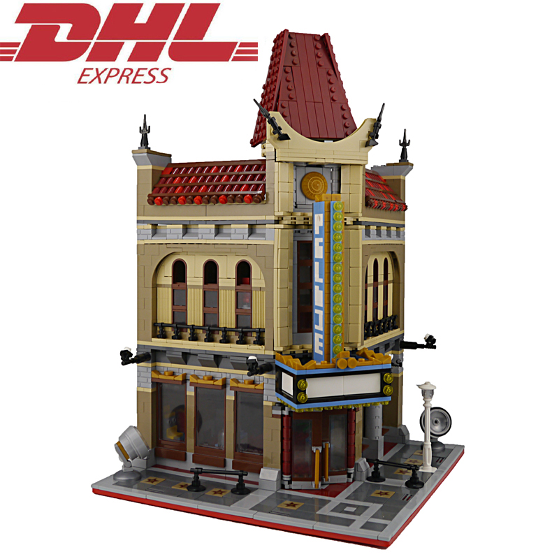 2354Pcs City Street Palace Cinema Model Building Kits Blocks Bricks Toys For Children Figures Christmas Gift Compatible 10232 10646 160pcs city figures fishing boat model building kits blocks diy bricks toys for children gift compatible 60147