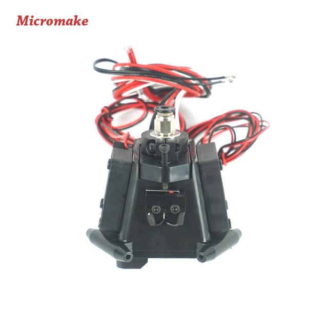 Micromake 3dプリンタ部品kossel reprepプラスチック射出新しい自動レベルエフェクターでj-ヘッドノズルフルアセンブリ