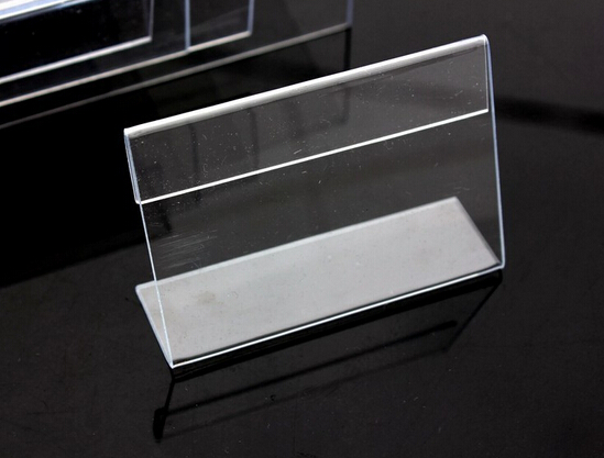 50pcs of 6*9CM Acrylic Price Tag Name Card Table Advertisement Display Stand Holder/Retail Display