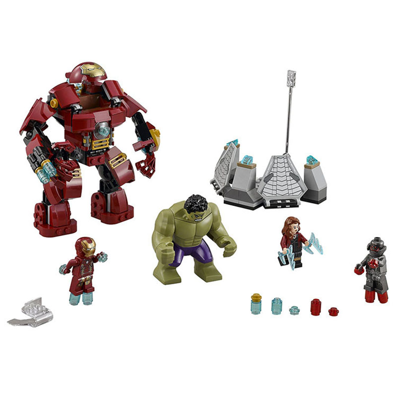 StZhou Marvel Super Heroes Avengers Building Blocks Compatible With legoe Ultron Figures Iron Man Hulk Buster Bricks Toys marvel avengers super heroes figures batman iron man black widow hulk joker lepin building blocks model sets toys for children
