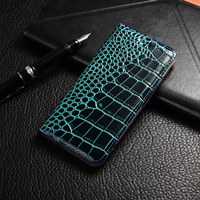Crocodile Genuine leather Phone Case Wileyfox Spark X Swift 2 2X Storm Plus Flip stand Cover