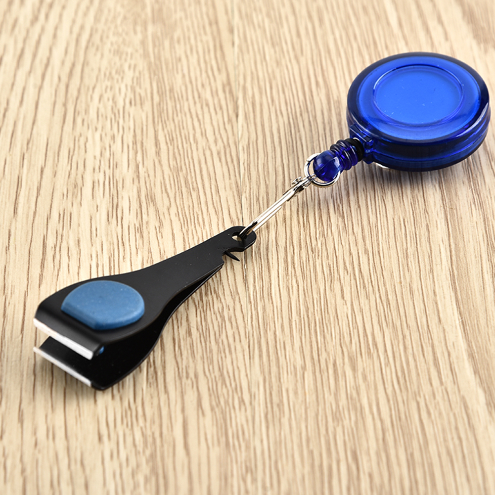 Fishing Line Nipper Clippers w//Pin-on Retractor Zinger Keeper Stopper Blue