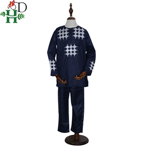 Image 3 - H & D gli uomini del ragazzo del bambino abbigliamento 2020 mens camicia dashiki africano africa bazin riche outfit abbigliamento top vestiti di mutanda vetement africain