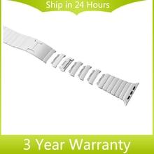 Нержавеющей Стали 316L Ремешок 1:1 в качестве Оригинала для Apple iWatch часы 38 мм 42 мм Ручной Отсоединить Ремень Запястье Link Belt браслет