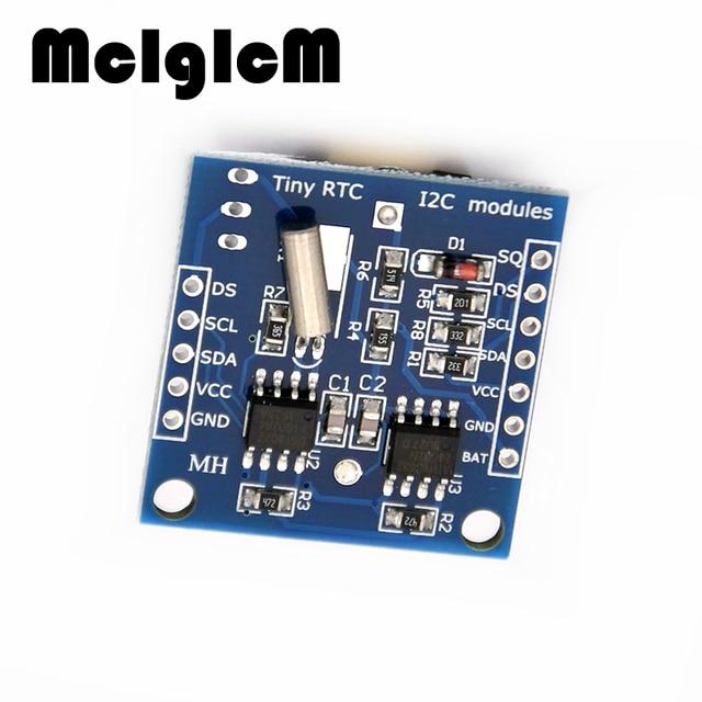 86018 Бесплатная доставка 5 шт. Крошечные I2C модули RTC 24C32 памяти DS1307 часы RTC модуль без батареи
