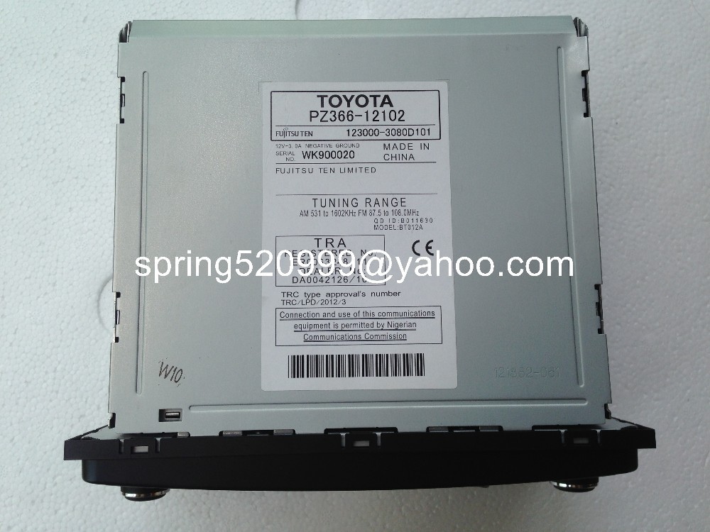 Toyota PZ366 12102 Fujitsu ten 6 CD changer MP3 Bluetooth for Toyota