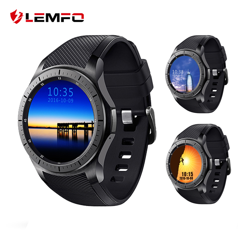 LF16 Android 5.1 Smart Watch 1.39 inch OLED Screen MTK6580 512MB+8GB Bluetooth Watch Heart Rate Wristwatch Reloj Inteligente smart baby watch каркам q50 oled голубые