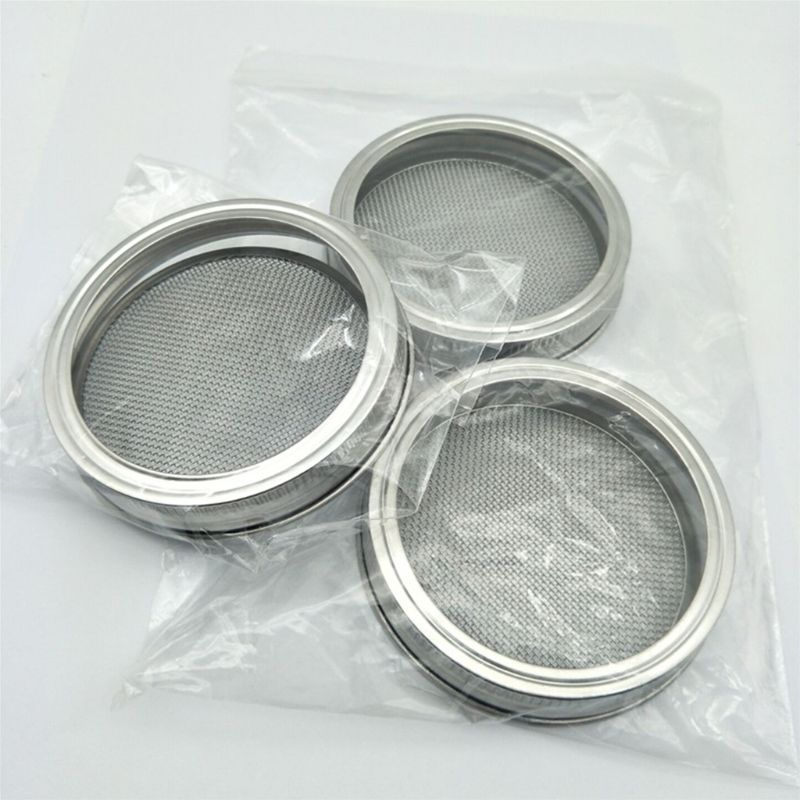 Kenley Seed Sprouter Kit - Sprouting Mason Jars With Stainless Steel Strainer Lids - Germinator Set To Grow Your Own Sprouts Alf