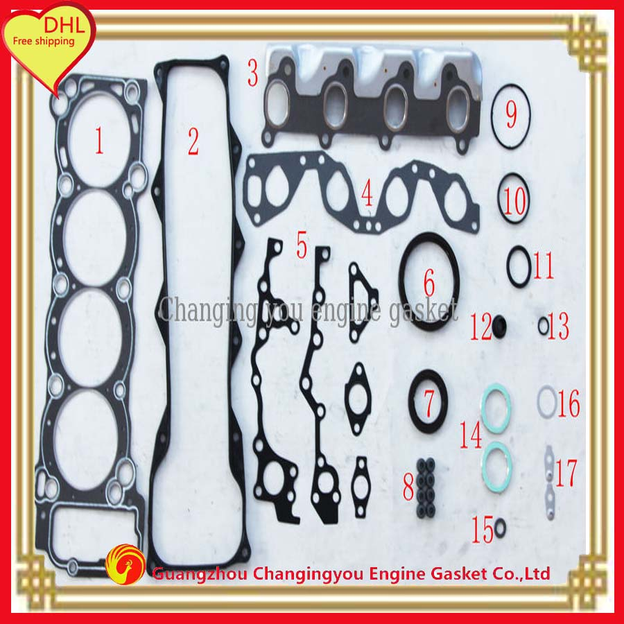 2rz 2rz e for toyota hiace full set engine parts auto parts engine gasket dhl
