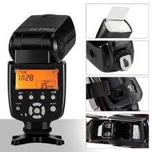 Sf770i flash speedlite para câmeras digitais, câmeras digitais canon, nikon, pentax, olympus, panasonic com flash de câmera padrão