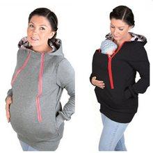 dcaa27241 Ropa de maternidad sudaderas con capucha multifunción de algodón cálido canguro  abrigo Daddy Chen Baby Holder