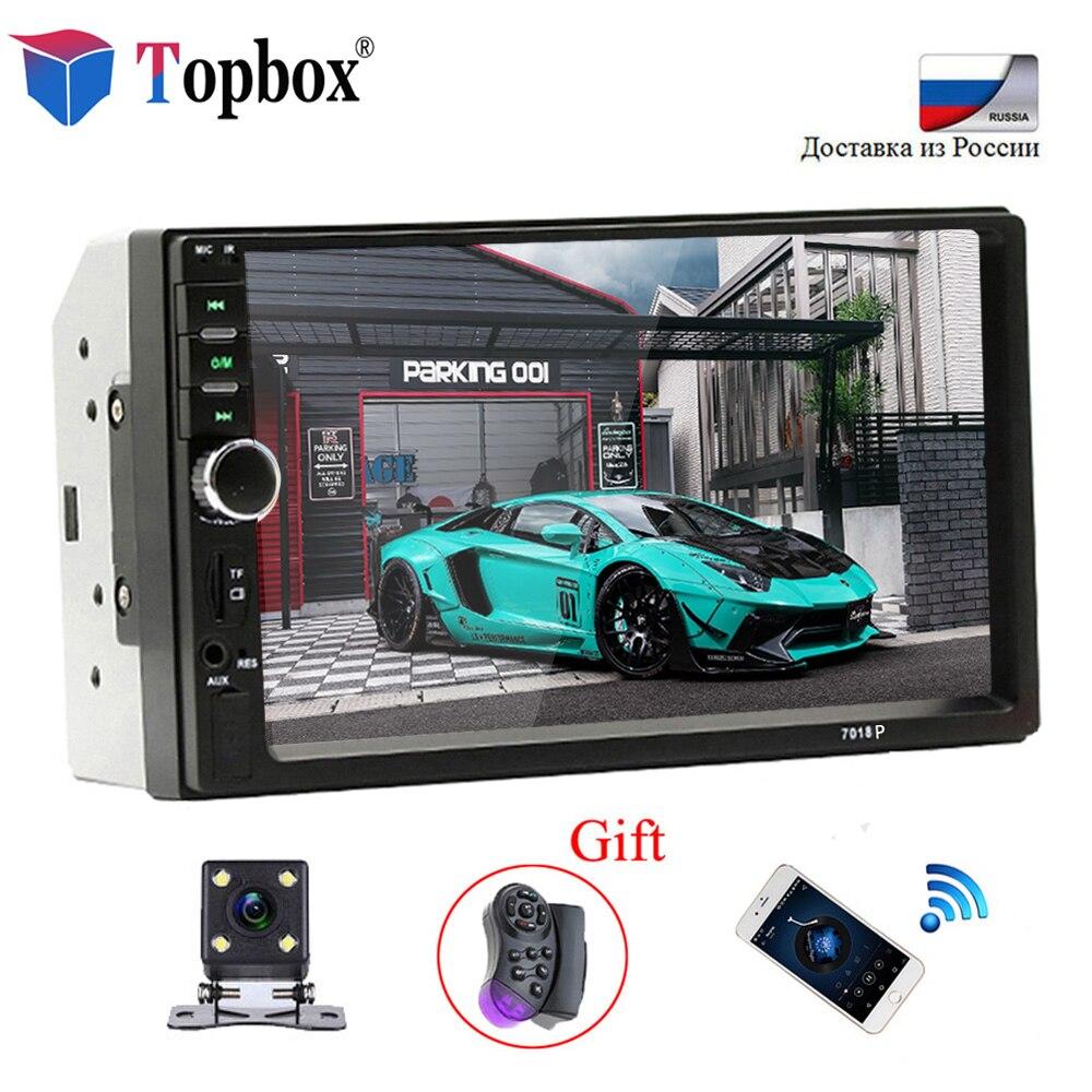 Bauletto Autoradio 2 Din Universale Modelli di Auto 7 ''LCD Touch Screen Car Radio Player Bluetooth Car Audio Supporto Videocamera vista posteriore