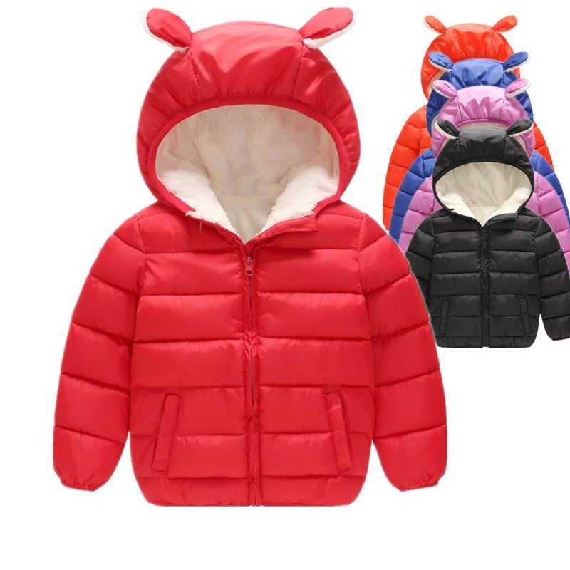 BibiCola/детские зимние пальто для мальчиков, хлопковая Теплая Флисовая бархатная верхняя одежда, bebe, спортивные пуховики с капюшоном для девочек, детские плотные куртки