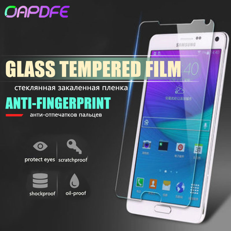 Tempered Glass For Samsung Galaxy Note 2 3 Note 4 5 S3 S4 S5 S6 S7 Screen Protector For S4 Mini S5 Mini  Glass Protective Film