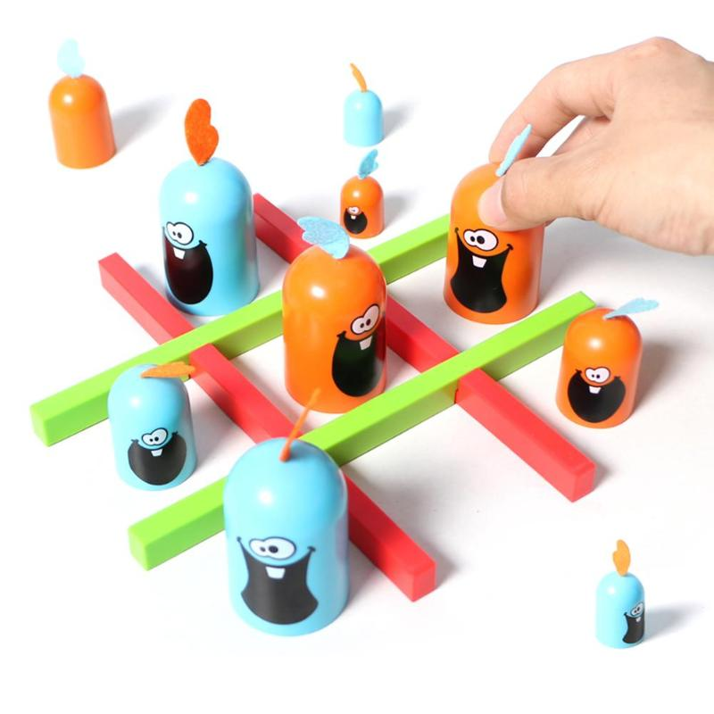 Kids Gobblet Gobblers Chess Board Table Game Line Up Toy Family Parent-Child Party Play Toys Children Puzzles Strategy Game Toys