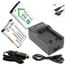 2x NP-BX1 3.6V 1600mAh Battery bateria NPBX1 NP BX1+EU Cable Charger for Sony Camera HDR-AS100v AS30v HX50 DSC-RX100 HX400 WX350