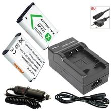 цена на 2x NP-BX1 3.6V 1600mAh Battery bateria NPBX1 NP BX1+EU Cable Charger for Sony Camera HDR-AS100v AS30v HX50 DSC-RX100 HX400 WX350