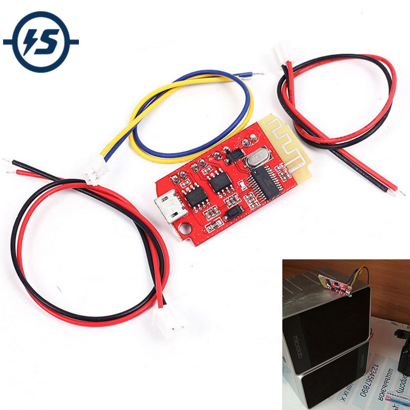 <font><b>Bluetooth</b></font> Module Power <font><b>Amplifier</b></font> Board CT14 Micro 4.2 Stereo 5VF 5W+5W Mini with Charging Port for Refitting Idle Sound Box image