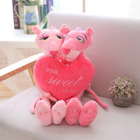60cm Lovers Pink Naughty Leopard Pink Panther Plush Stuffed Toys Baby Kids Doll Brinquedos Factory Price