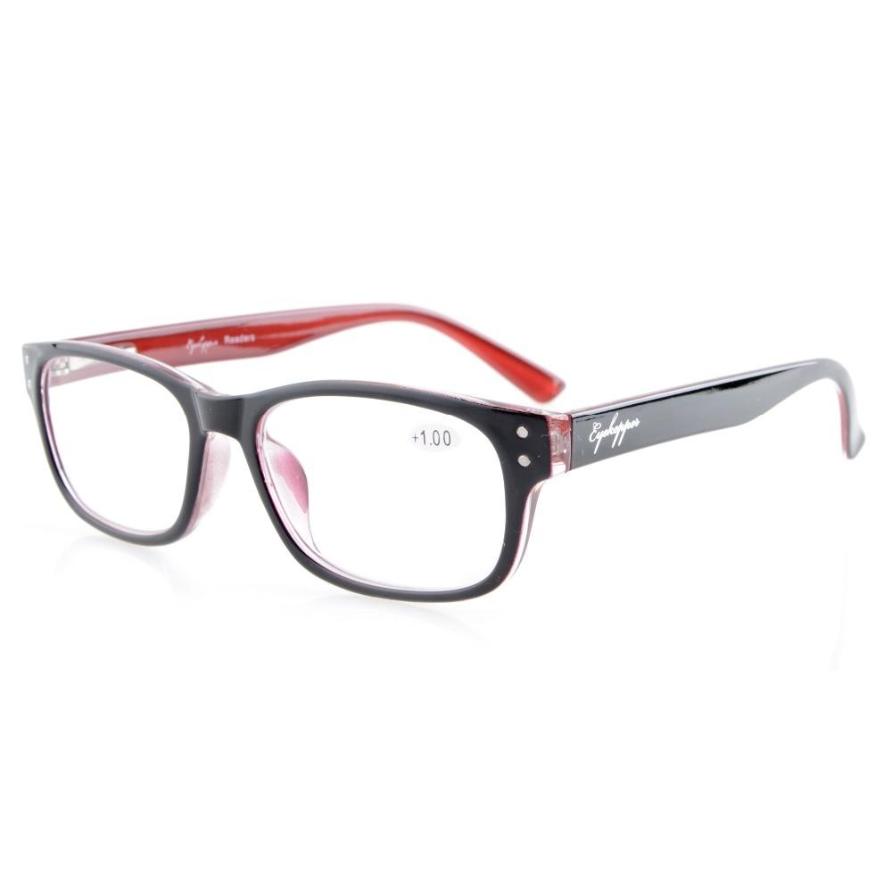 R094 Eyekepper القراء جودة نظارات القراءة - مفصلات ريترو روكرز ديلوكس +0.50 --- + 4.00