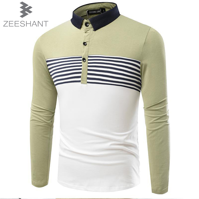 ZEESHANT 2017 New Mens Polo Shirts Long Sleeve Spring Slim Fit Men's Shirt Brands Camisa Polo Masculina in Men's Polo Shirts