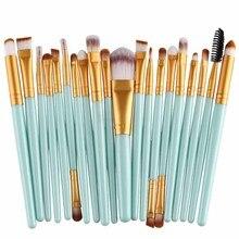 New 20PCS Make Up Brushes Professional Cosmetic Plastic Handle Basic Eyebrow Eyeshadow Mascara Lip Makeup Brush Set FM88