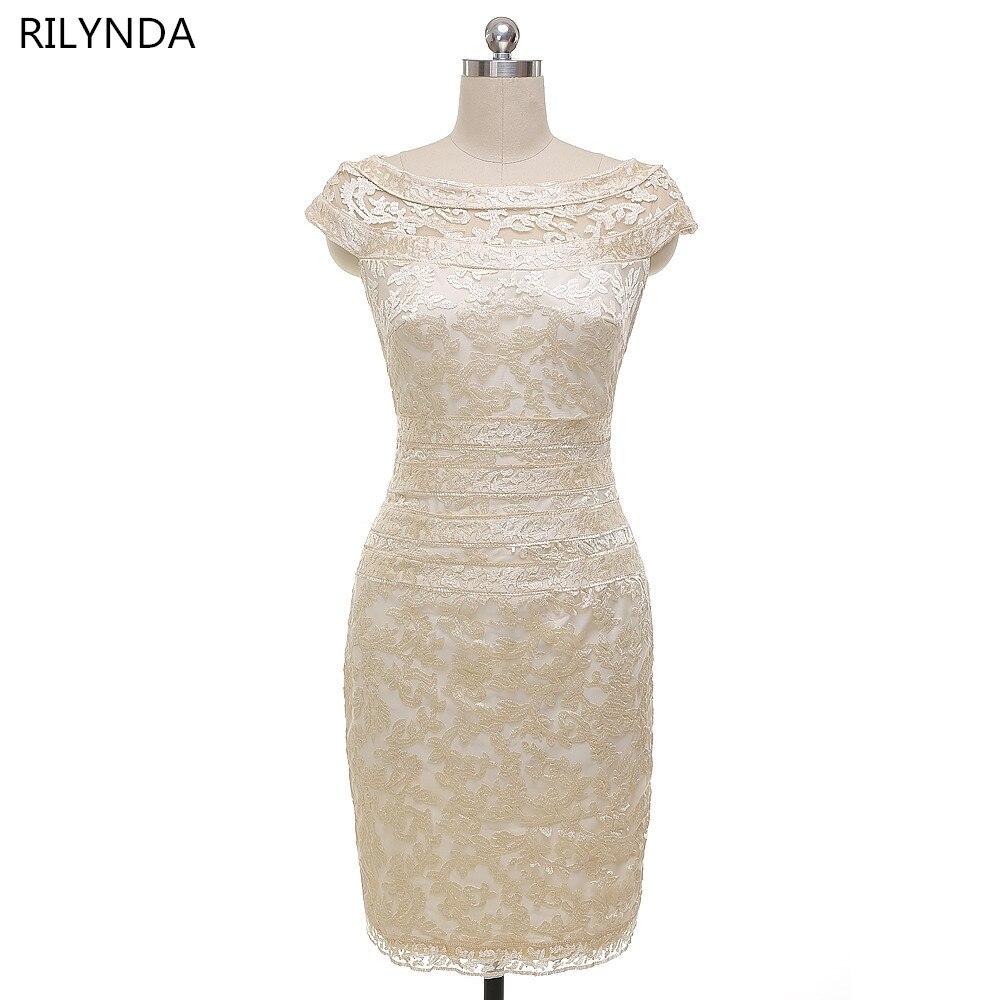Echtes Foto Neue Mantel / Spalte Champagne Mutter der Braut Kleider - Kleider für besondere Anlässe