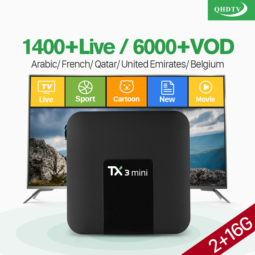 TX3 mini France IPTV Box Android 7 1 S905W Quad Core 2 4GHz WiFi 1 Year