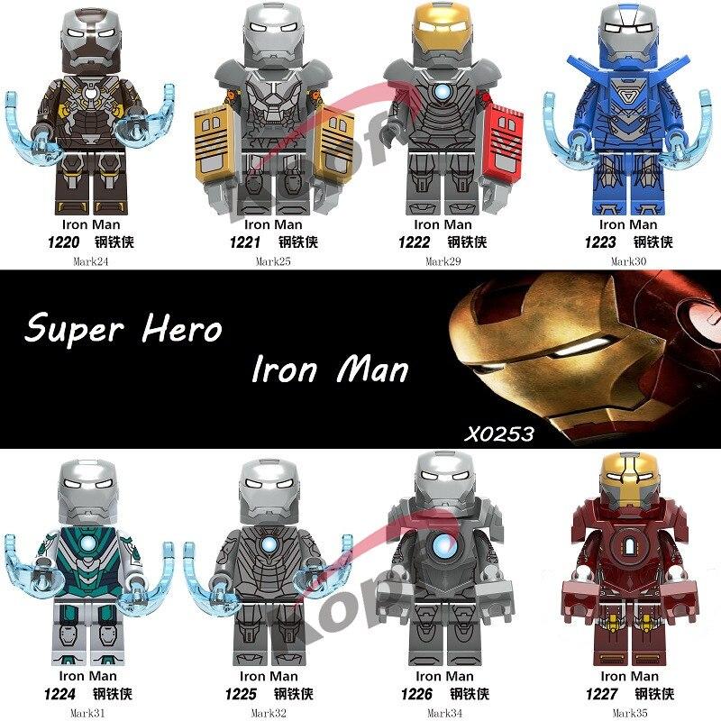 Single Sale Building Blocks Super Heroes Bricks Iron Man Tony Stark Action Mark Mark 29 Mark 30 Figures Toys For Children X0253