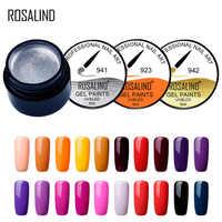 ROSALIND 5 ml colores puros 921-942 pintura Gel esmalte de uñas lámpara LED UV barniz de Gel diseño de uñas primer manicura de Arte de uñas superior