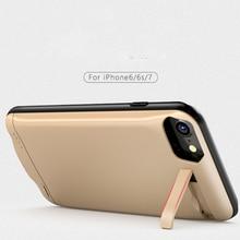 Аккумулятор Чехлы для iPhone 6 6S IP7 портативный аккумулятор резервного копирования зарядки Банк силы чехол для iPhone6plus 6splus 7 плюс Чехол