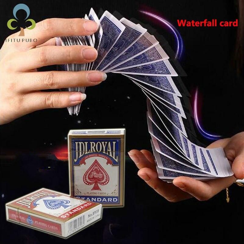 Magic poker waterfall shape novice magic props baby show toys birthday gift Stage magic props LYQ