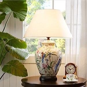 Tuda 50x70cm frete grátis mão-pintado candeeiro de mesa de cerâmica crackle esmalte candeeiro de mesa de cerâmica estilo chinês candeeiro de mesa e27