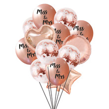 Chicinlife 1set rose gold Goodbye Miss Hello Mrs Balloon Hen Party Wedding Mr To Bachelorette Balloons Decor