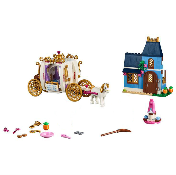 Lepin 25009 Princess Friends Cinderella's Enchanted Evening Model Building Blocks Kids Toys Compatible LegoINGlys 41146 one enchanted evening