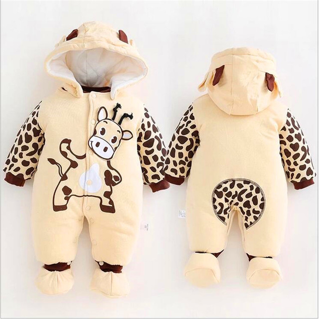 Baby suit Winter thickened cotton, cloth baby infant jumpsuit warm baby go out Footies LM120