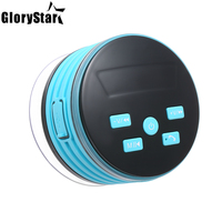 New Portable Bluetooth Speaker IP67 Waterproof Speakers Colorful LED Light Support FM Radio with Suction Cup Subwoofer Sound Box