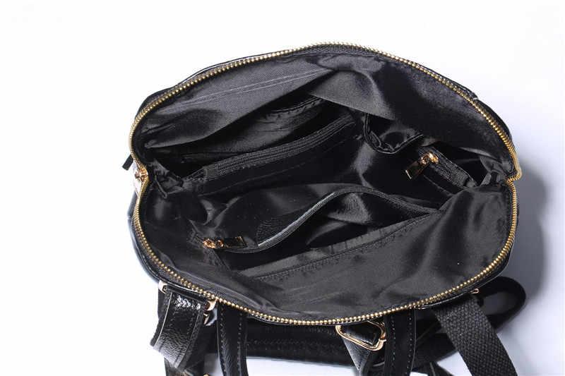 Nesitu Новый цвет: черный, синий красный 100% гарантия Настоящее кожи Пояса из натуральной кожи Для женщин рюкзак кожа Сумки на плечо # m0718