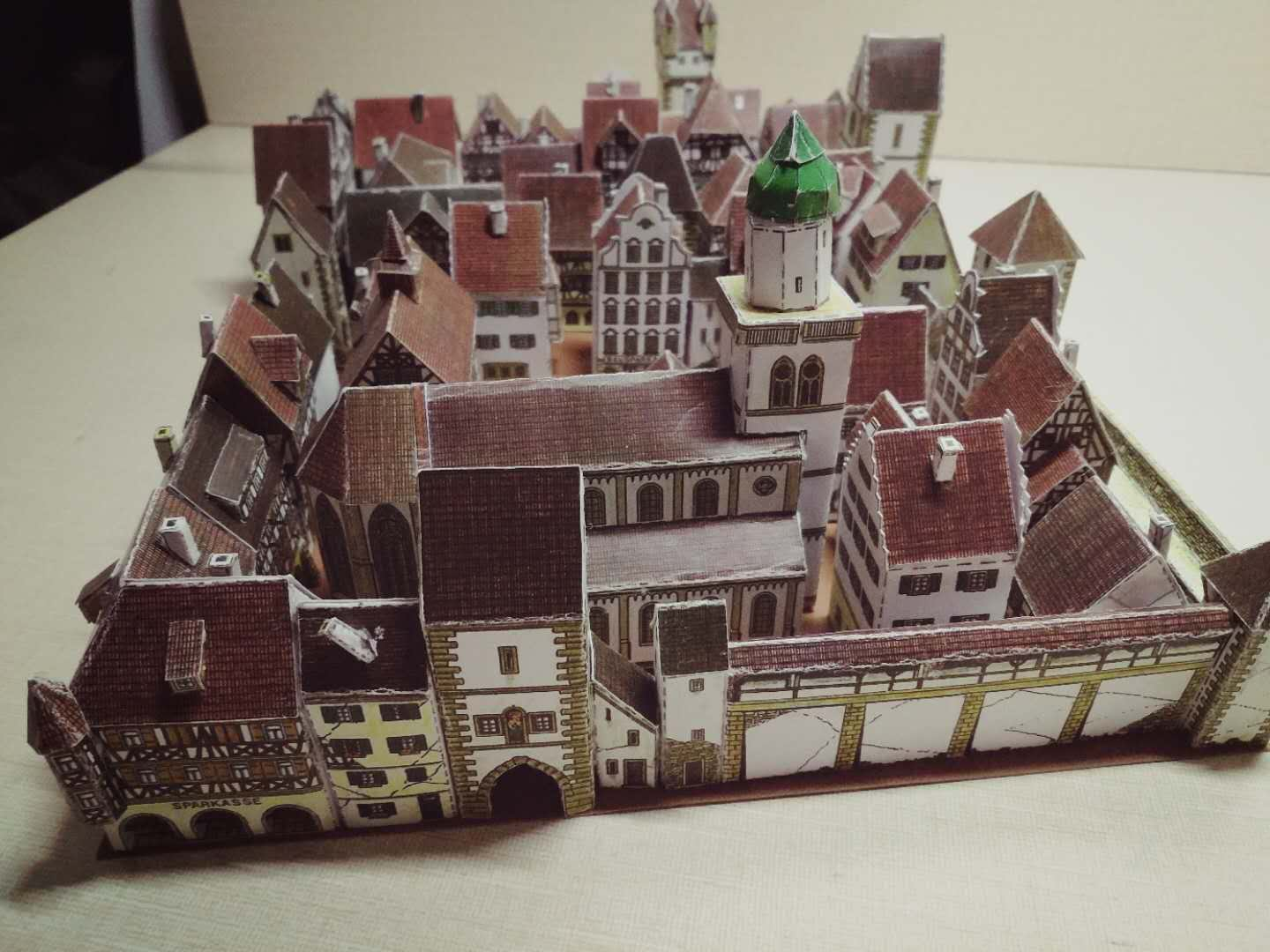 Medieval Town Building 3D Paper Model DIY Hand-made Paper Model Pendulum Toys