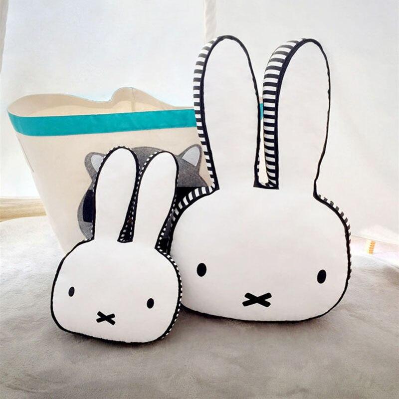 Big Bunny Rabbit head Baby Pillow Newborn kids room Decoration crib bedding pillow cushion Cotton Core Neck pillow girls Gift
