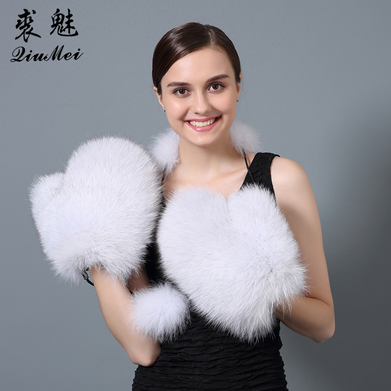 QiuMei Ձմեռային մորթյա ձեռնոցներ կանանց - Հագուստի պարագաներ - Լուսանկար 3