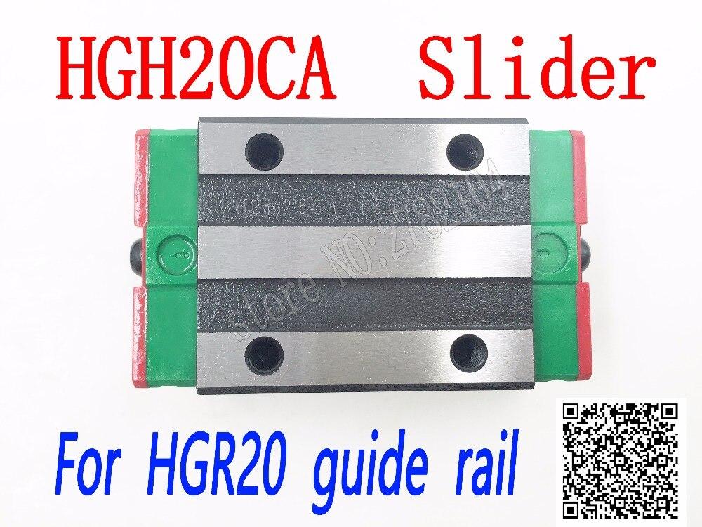 HGH20CA HGW20CC deslizante uso jogo bloco HGW20 HGH20 CA CA HGR20 guia linear para o transporte ferroviário linear CNC peças diy