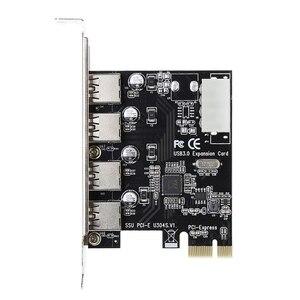 Image 3 - 4 portowa karta PCI E do USB 3.0 HUB PCI Express Adapter karty rozszerzeń 5 gb/s szybkość