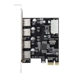 Image 3 - Adaptateur carte dextension pcie vers USB 3.0, 4 ports, PCI Express, vitesse 5 gbps