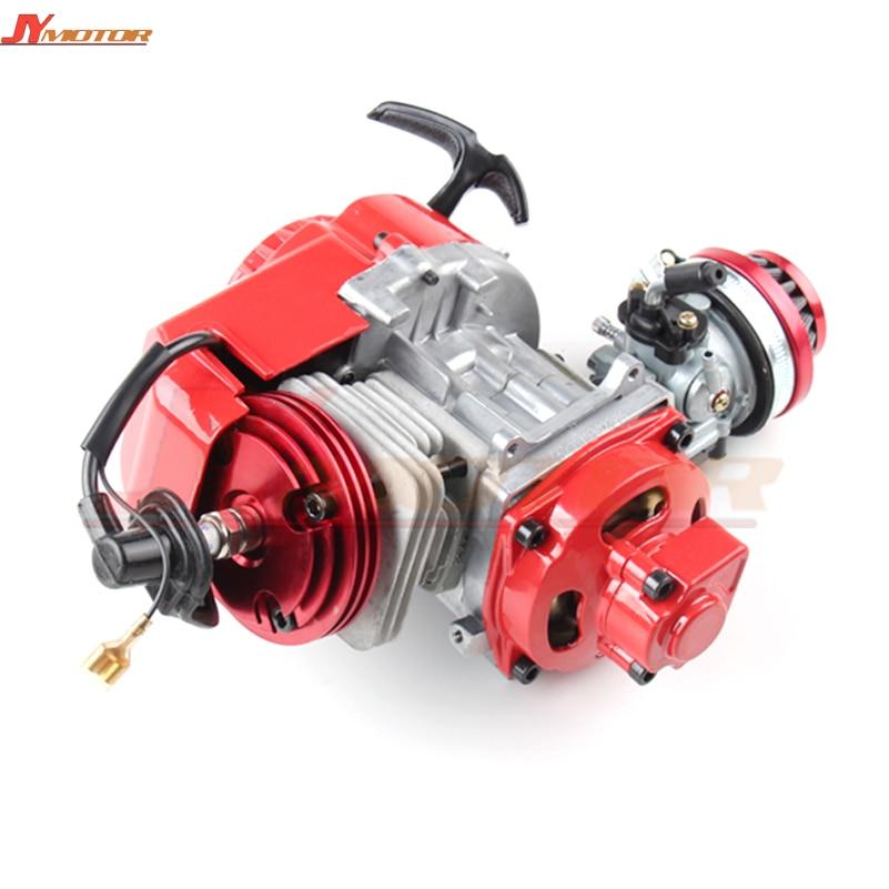 Performance Racing Red 49cc 2 stroke Engine Motor Mini Pocket Quad Dirt Bike ATV