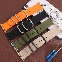 BRETA hoge kwaliteit 22 MM 24 MM 5 kleuren nylon band met gesp waterdichte zwart oranje grijs band voor 38 MM 42 MM smart horloge