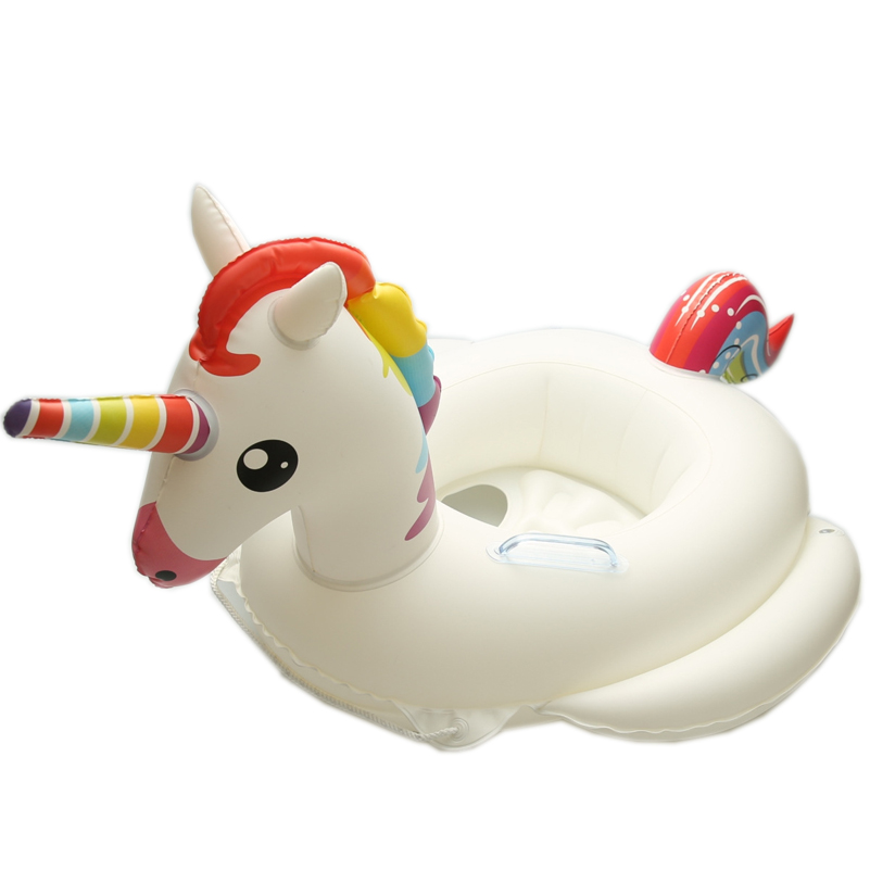 Flamingo Pool Float Sale 2018 Flamingo Unicorn Swimming Ring Baby Seat Children Ride-on Pool Float 2-6 Year Old Circle Raft