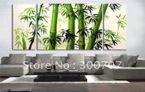 Guaranteed 100% Free shipping New  MODERN ABSTRACT WALL DECOR oil painting - BAMBOO