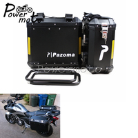 Universal Motorcycle Black Side Box Side Case Saddle Bag Pannier Cargo For BMW F800GS F800R 2009 2014