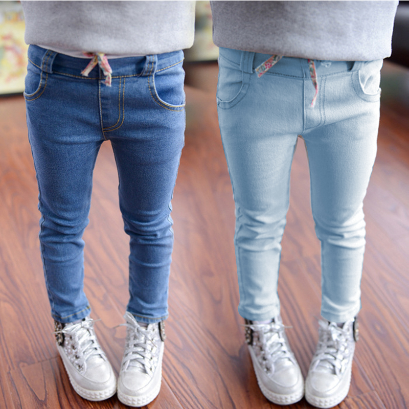2016 New Style Girls Jeans Kids Clothing Pants For Girls -2114
